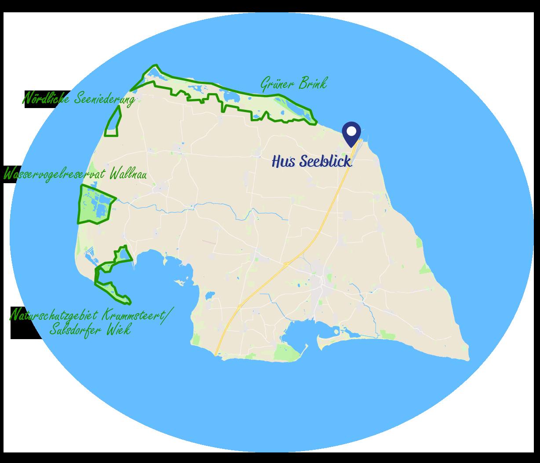 Naturschutzgebiete Fehmarn Nördliche Seeniederung Wasservogelreservat Wallnau Grüner Brink Krummsteert Sulsdorfer Wiek