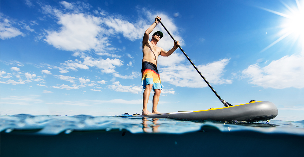 Stand Up Paddling SUP auf Fehmarn
